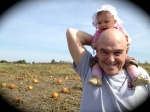 McKinley last year with PaPa at Lynd's Fruit Farm